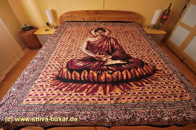 wandbehang buddha lotussitz div farben shiva basar. Black Bedroom Furniture Sets. Home Design Ideas