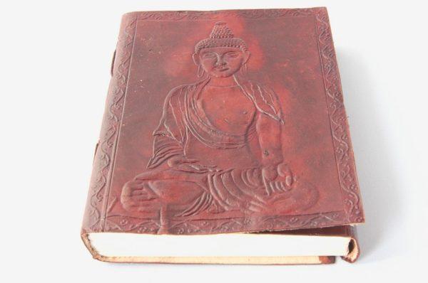 Tagebuch Buddha, Notizbuch aus Leder Buddha