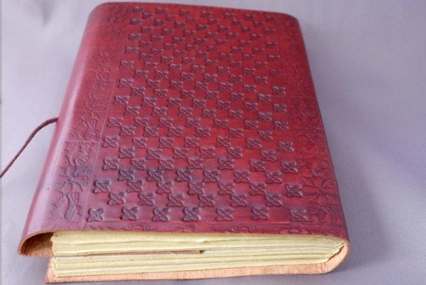 Lederbuch Tagebuch Rückseite