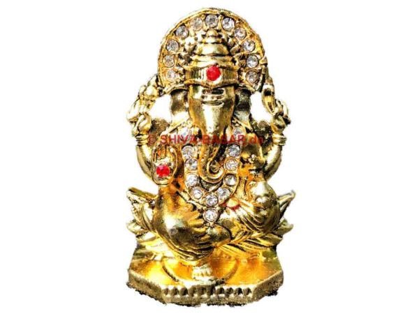 Ganesha Figur Gold Strass 5cm